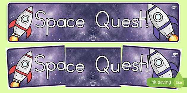 Space Quest Topic Display Banner - australia, space, quest, topic, display banner, display, banner