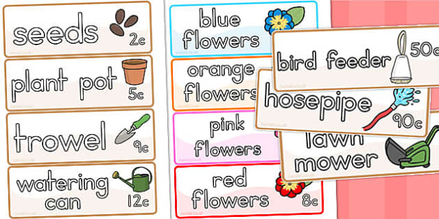 Garden Centre Labels Flowers - Australia, Garden, Centre, Labels