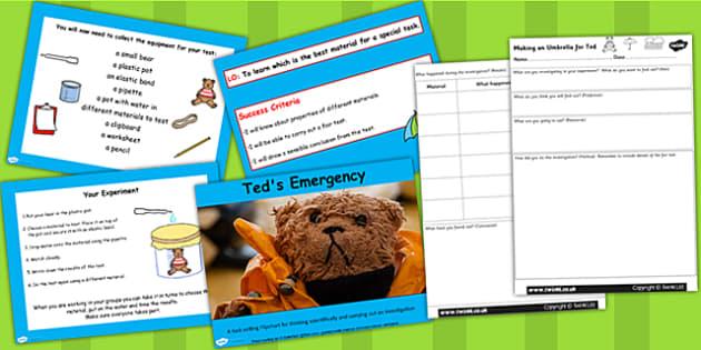 Teds Umbrella Best Material Setter Flipchart Activity Pack