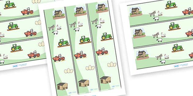 Display Borders (Farm) to Support Teaching on Pig in the Pond - Pig in the Pond, Martin Waddell, resources, Very Hot Day, Neligan, Neligan's pig, ducks, geese, pond, animals, story, story book, story book resources, story sequencing, story resources,