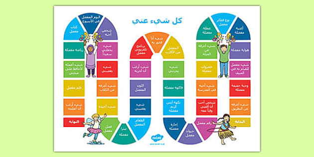 All About Me Board Game - Arabic