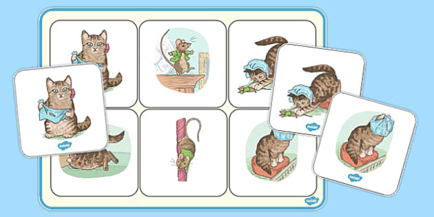 The Story of Miss Moppet Matching Mat - miss moppet, matching mat, matching, mat, match, beatrix potter