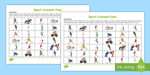 Connect Four (Sport) Game French - French Games, connect four, french sports, french activities, french pair games. - French Games, connect four, french sports, french activities, french pair games, four in a row