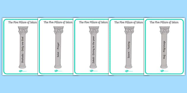 5 Pillars Of Islam Worksheet 61283 – Five Pillars of Islam Worksheet