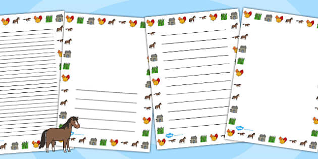 Horses and Ponies Page Borders - horses, ponies, page, borders, my little pony