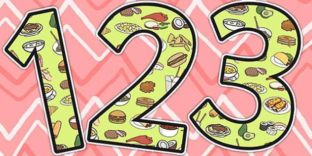 Food Around The World Display Numbers - Food, World, Numbers