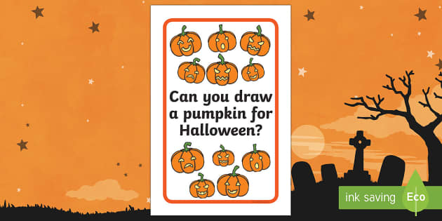 Ikea Tolsby Pumpkin Drawing Prompt Frame