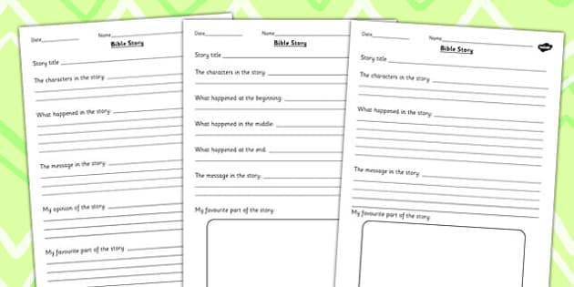 Bible Story Differentiated Worksheets - worksheet, religion