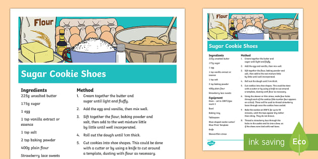 Sugar Cookie Shoe Recipe - The Elves and the Shoemaker, traditional tales, Christmas, biscuit, baking, cooking, recipe