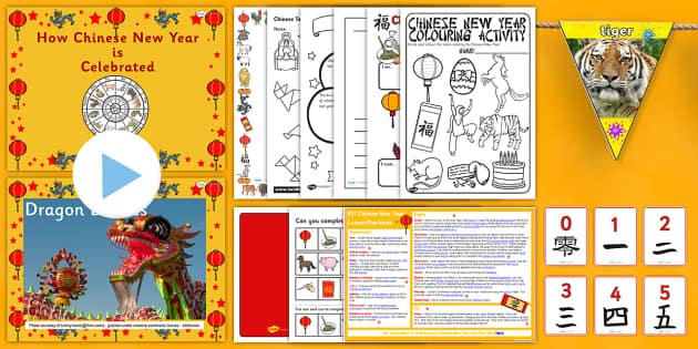 KS1 Chinese New Year Teaching Pack - chinese new year, pack