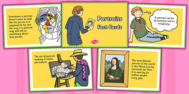 Portraits Fact Cards - portraits, fact, cards, fact cards, art
