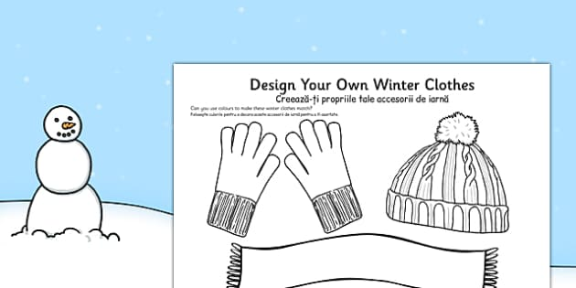 Design Your Own Winter Clothes Romanian Translation - romanian, design, winter, clothes