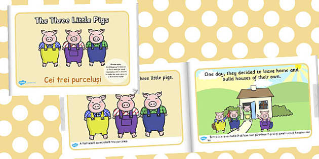 The Three Little Pigs eBook Romanian Translation - traditional