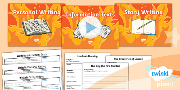 PlanIt Y1 Time Travel: The Great Fire of London WriteIt Pack