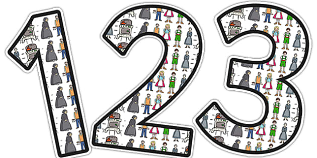 Hansel and Gretel Themed Display Numbers - display, numbers