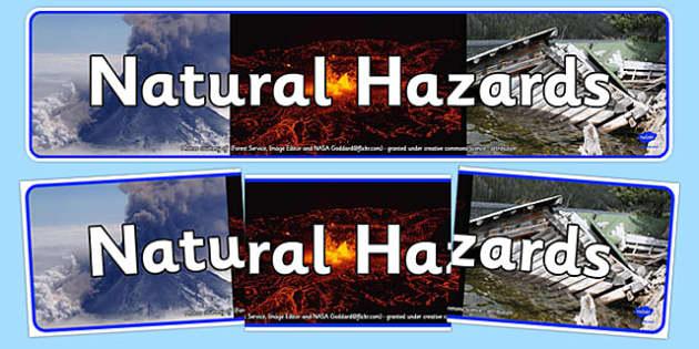 Natural Hazards Display Banner - natural hazards, display banner, display, banner