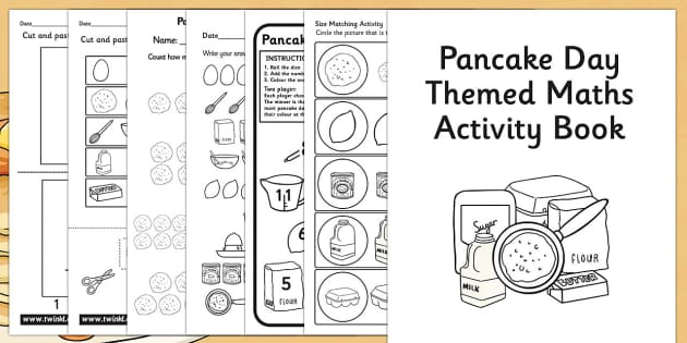 Pancake Day Themed Maths Activity Book - activities, numeracy
