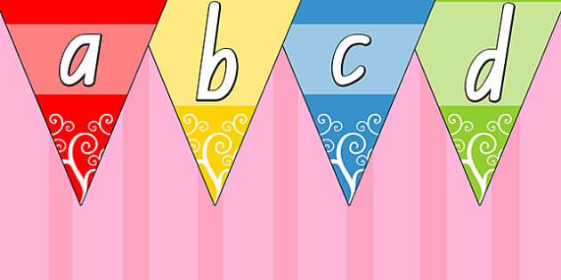 Multicolour Alphabet Bunting NSW - australia, alphabet, bunting