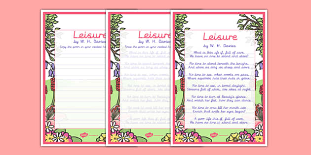 Leisure KS2 Handwriting poems - leisure, ks2, handwriting poems, handwriting, poems