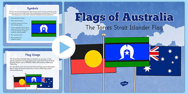 Australia - Flags of Australia The Torres Strait Islander Flag Information PowerPoint - australia, flags, symbols, aboriginal, torres strait islander