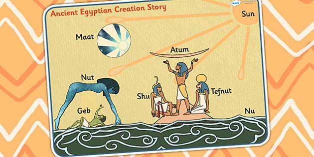 Ancient Egyptian Creation Story Word Mat - ancient egypt, keyword