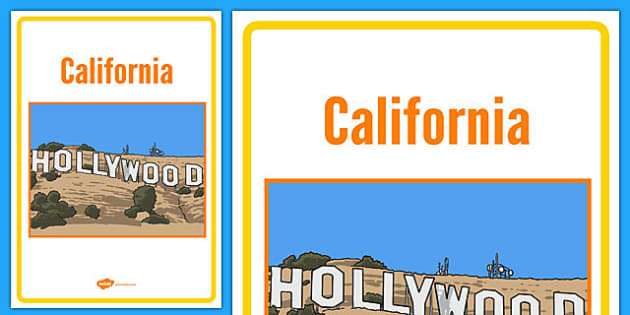 California Book Cover - USA, America, Hollywood, North America, geography, places, world