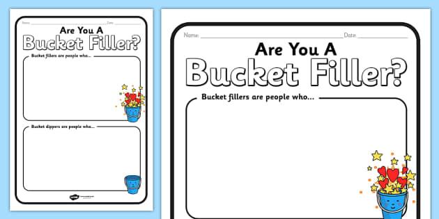 Bucket Filler Worksheet - bucket filler, worksheets, bucket filler worksheets, bucket filler sheets, bucket, filler, work, sheets