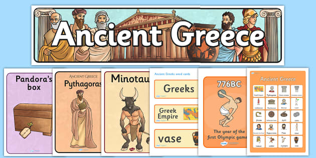 Ready Made Ancient Greece Display Pack - ready made, greece, pack