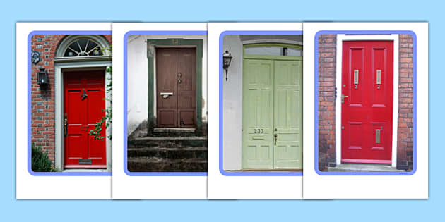 Doors Display Photos - Door, number, letterbox, letter, parcel, house, Postal Worker
