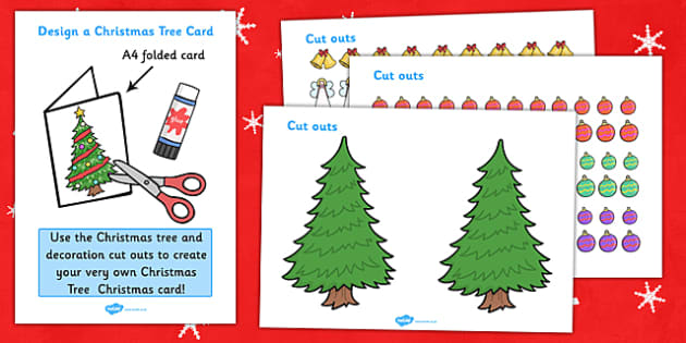 Design Your Own Christmas Tree Christmas Card - Design, Christmas