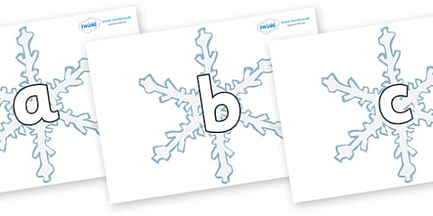 Phoneme Set on Snowflakes - Phoneme set, phonemes, phoneme, Letters and Sounds, DfES, display, Phase 1, Phase 2, Phase 3, Phase 5, Foundation, Literacy