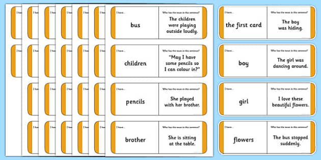 Australian Year 2 Nouns Loop Cards - australia, Phonics, grammar, language, literacy, nouns, loop cards, talking, listening, ACELA1452