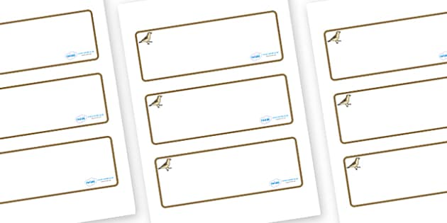 Sparrow Themed Editable Drawer-Peg-Name Labels (Blank) - Themed Classroom Label Templates, Resource Labels, Name Labels, Editable Labels, Drawer Labels, Coat Peg Labels, Peg Label, KS1 Labels, Foundation Labels, Foundation Stage Labels, Teaching Labe