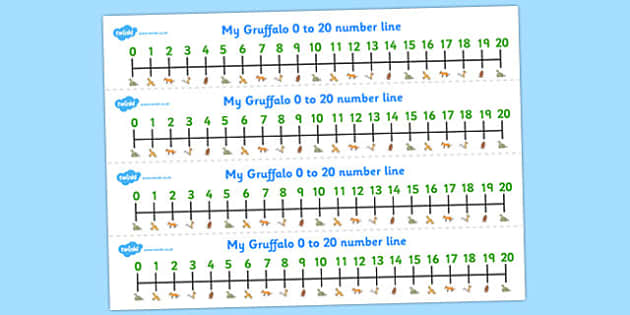 The Gruffalo Number Line 0 20-the gruffalo, number line, 0-20, 0-20 number line, themed number line, counting, numbers, numeracy, math