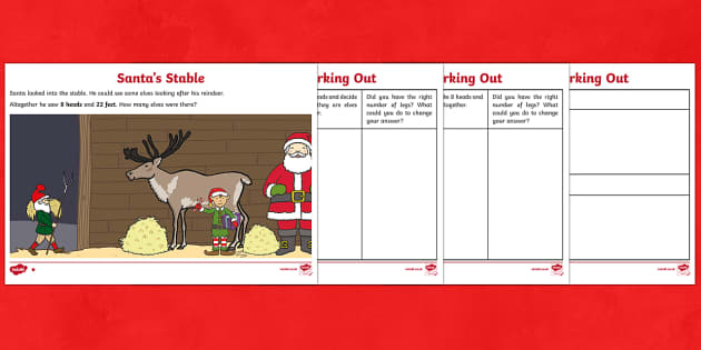 Santa's Stable Maths Investigation Activity