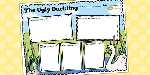 Ugly Duckling Book Review Writing Frame - review, writing, frame