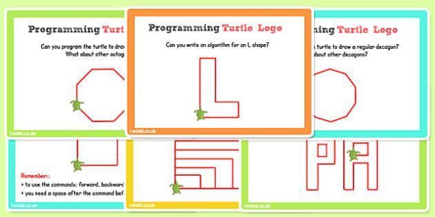 ICT Challenge Cards Programming Turtle Logo - ICT, Turtle, Logo