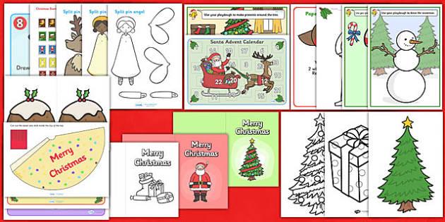 Christmas Craft Pack - christmas, craft, pack, craft pack, art
