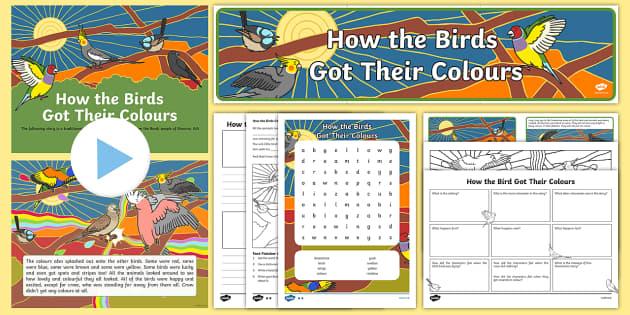 Aborginal Dreamtime How the Birds Got Their Colours Activity Pack-Australia