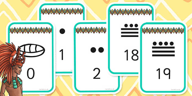 Ancient Mayan Number System Flashcards - ancient maya, numbers