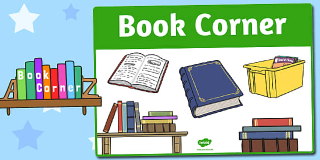 Book Corner Sign - area, sign, area sign, book corner, book