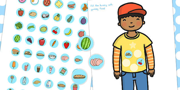 Healthy Food Fill The Tummy Activity - food, health, eating