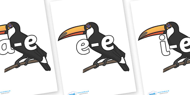 Modifying E Letters on Toucans - Modifying E, letters, modify, Phase 5, Phase five, alternative spellings for phonemes, DfES letters and Sounds