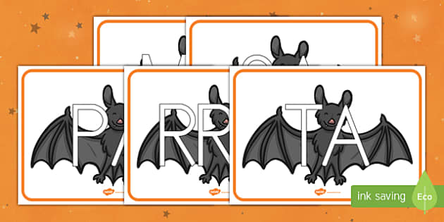 Murciélagos tarjetas de sílabas
