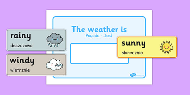 Weather Display Polish Translation - polish, weather, display, weather display