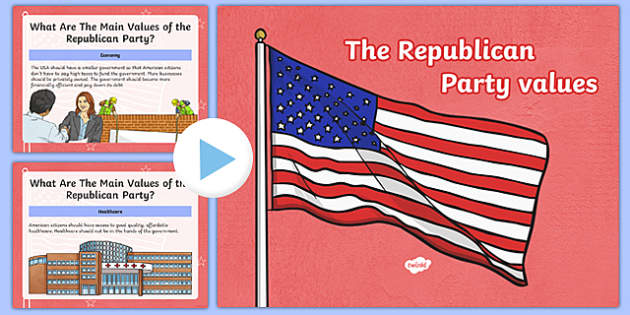 Republican Party Values PowerPoint