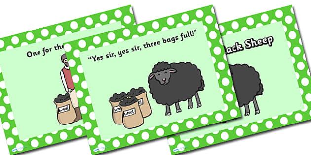 Baa Baa Black Sheep PowerPoint - baa baa black sheep, nursery rhymes, nursery rhyme powerpoint, baa baa black sheep nursery rhyme powerpoint, rhyme, song