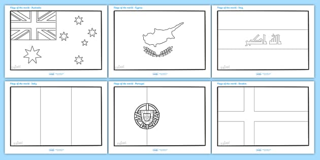 Flags of the World Colouring Sheets Flags of the world flags – Fraction Flags Worksheet