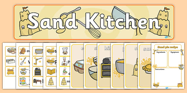 Sand Kitchen Role Play Pack - kitchens, activities, roles, messy
