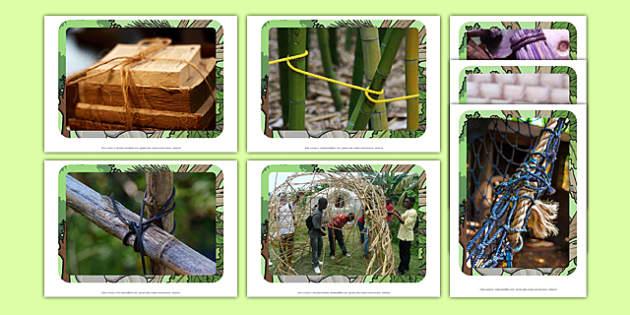 Joining Natural Materials Display Photos - display photos, natural material, joining materials, outdoor learning